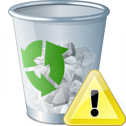 Garbage Warning Icon 256x256
