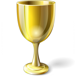 Goblet Gold Icon 256x256