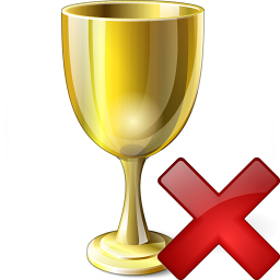 Goblet Gold Delete Icon 256x256