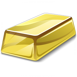 Gold Bar Icon 256x256