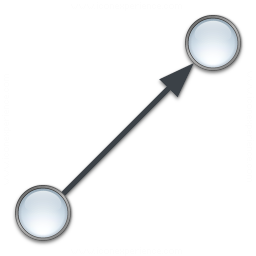 Graph Edge Directed Icon 256x256