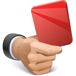 Hand Red Card Icon 256x256