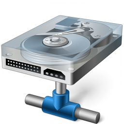 Hard Drive Network Icon 256x256