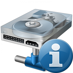 Hard Drive Network Information Icon 256x256