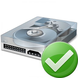 Hard Drive Ok Icon 256x256