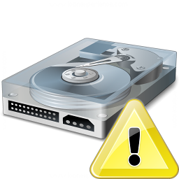 Hard Drive Warning Icon 256x256