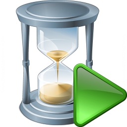 Hourglass Run Icon 256x256