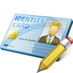 Id Card Edit Icon 256x256