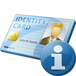 Id Card Information Icon 256x256