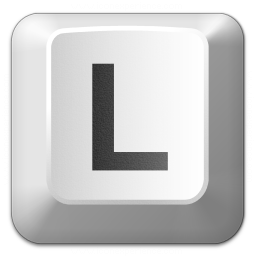 Keyboard Key L Icon 256x256