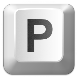 Keyboard Key P Icon 256x256