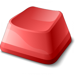 Keyboard Key Red Icon 256x256