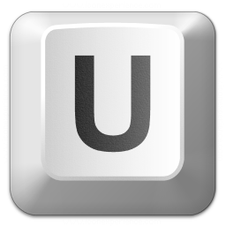 Keyboard Key U Icon 256x256