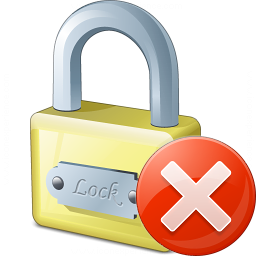 Lock Error Icon 256x256