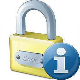 Lock Information Icon 256x256