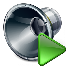 Loudspeaker Run Icon 256x256
