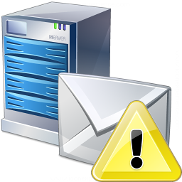 Mail Server Warning Icon 256x256