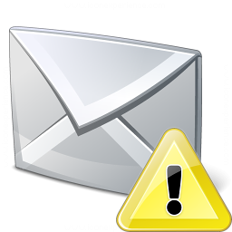 Mail Warning Icon 256x256