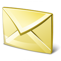 Mail Yellow Icon 256x256