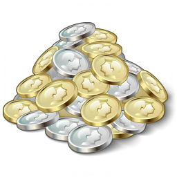 Money Coins Icon 256x256