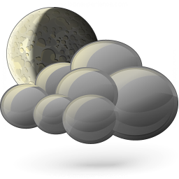Moon Cloud Icon 256x256