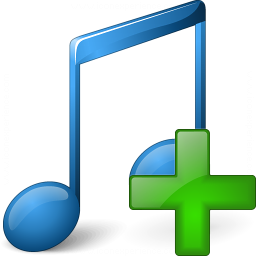 Music Blue Add Icon 256x256