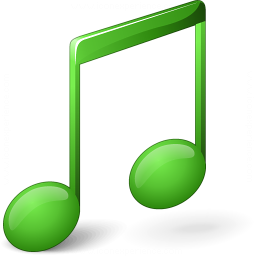 Music Green Icon 256x256