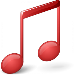 Music Red Icon 256x256