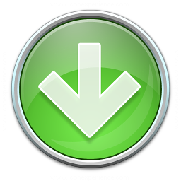 Nav Down Green Icon 256x256