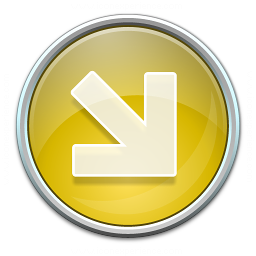 Nav Down Right Yellow Icon 256x256