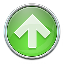 Nav Up Green Icon 256x256