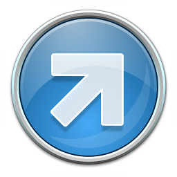 Nav Up Right Blue Icon 256x256