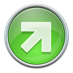 Nav Up Right Green Icon 256x256
