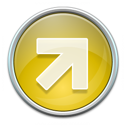 Nav Up Right Yellow Icon 256x256