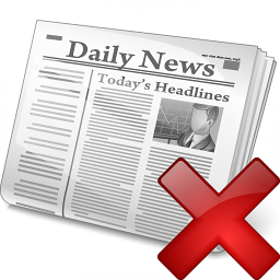 Newspaper Delete Icon 256x256