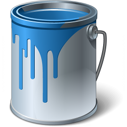 Paint Bucket Blue Icon 256x256