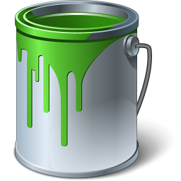 Paint Bucket Green Icon 256x256