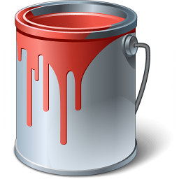 Paint Bucket Red Icon 256x256