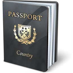 Passport Black Icon 256x256