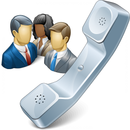 Phone Conference Icon 256x256