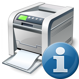 Printer Information Icon 256x256
