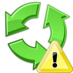 Recycle Warning Icon 256x256