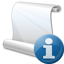 Scroll Information Icon 256x256