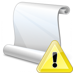 Scroll Warning Icon 256x256