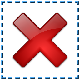Selection Delete Icon 256x256