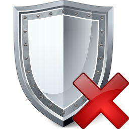 Shield Delete Icon 256x256