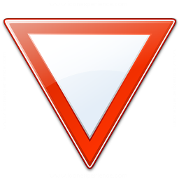Sign Yield Icon 256x256