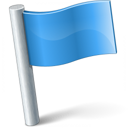 Signal Flag Blue Icon 256x256
