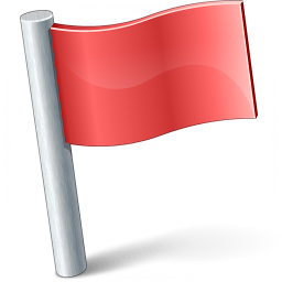 Signal Flag Red Icon 256x256