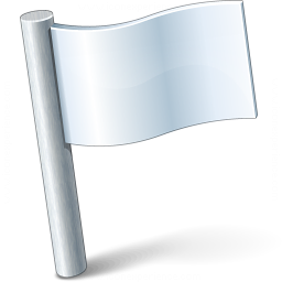 Signal Flag White Icon 256x256